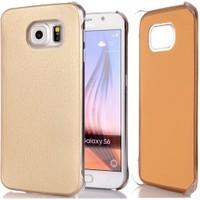 Cover Me Samsung Galaxy S6 Edge Kılıf Flip Wallet Altın