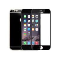 Lopard Apple İphone 6S Plus Ön Arka Temperli Renkli Ekran Koruyucu Film Siyah