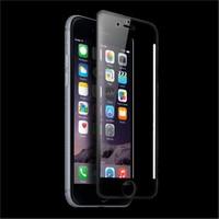 Lopard İphone 6S Plus 3D Tam Kapatan Kavisli Temperli Cam Ekran Koruyucu Siyah