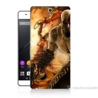 Teknomeg Sony Xperia C5 Kapak Kılıf God Of War Baskılı Silikon