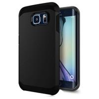 Microsonic Slim Fit Dual Layer Armor Samsung Galaxy S6 Edge Kılıf Siyah