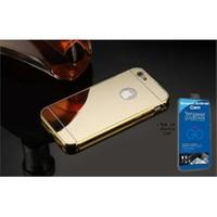 Teleplus İphone 6S Aynalı Kapak Gold + Cam Ekran Koruyucu