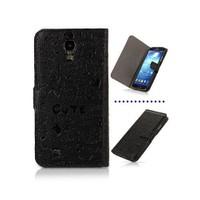 Microsonic Cute Figürlü Deri Kılıf Samsung Galaxy S4 İ9500 Siyah