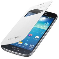 Microsonic View Cover Delux Kapaklı Kılıf Samsung Galaxy S4 Mini i9190 Beyaz