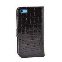Vacca Apple İphone 5C Krokodil Cüzdan Tip Kilif Siyah