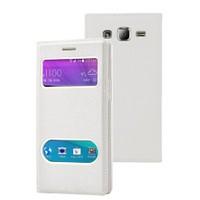 Microsonic Samsung Galaxy J2 Kılıf Dual View Gizli Mıknatıslı Beyaz