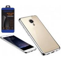Cepsesuar General Mobile Gm5 Plus Kılıf Silikon Lazer Gümüş - Cam