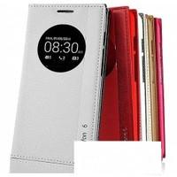 Teleplus Asus Zenfone 6 Pencereli Uyku Modlu Kılıf Beyaz