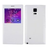 Microsonic View Padding Kapaklı Samsung Galaxy Note 4 Kılıf (Akıllı Modlu) Beyaz - CS150-V-PDDNG-GLX