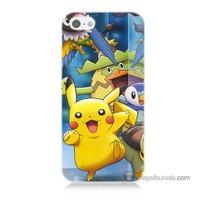 Teknomeg İphone Se Kapak Kılıf Pokemon Pikachu Baskılı Silikon