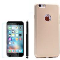 Gpack Apple İphone 6 Plus Kılıf Premier Silikon +Kalem+Cam