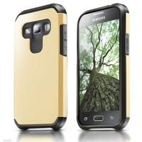 Microsonic Samsung Galaxy A7 Kılıf Slim Fit Dual Layer Armor Gold