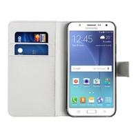 Microsonic Samsung Galaxy J7 Kılıf Cüzdanlı Deri Beyaz