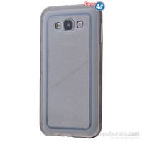 Case 4U Samsung Galaxy Grand Prime Çerçeveli Silikon Kılıf Siyah