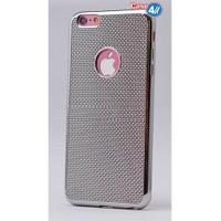 Case 4U Apple İphone 6 Plus Hasır Desenli Ultra İnce Silikon Kılıf Gümüş