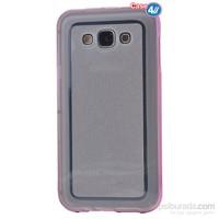 Case 4U Samsung Galaxy J1 Çerçeveli Silikon Kılıf Pembe