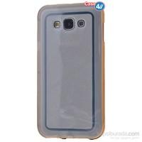 Case 4U Samsung Galaxy J2 Çerçeveli Silikon Kılıf Altın