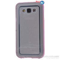 Case 4U Samsung Galaxy J2 Çerçeveli Silikon Kılıf Pembe