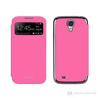 Imymee Samsung Galaxy S4 i9500 Akıllı Flip Kapak + Ekran Koruyucu Pembe