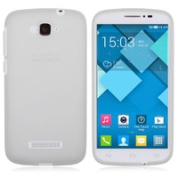 Microsonic Transparent Soft Alcatel One Touch Pop C7 Kılıf Beyaz