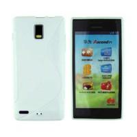 CoverZone Huawei Ascend P1 Kılıf Silikon Beyaz
