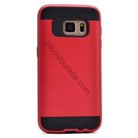 Case 4U Samsung Galaxy S7 Korumalı Kapak Kırmızı