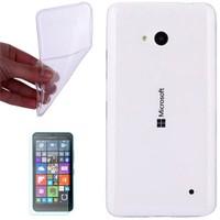 Cep Market Nokıa Lumia 535 Kılıf 0.2Mm Şeffaf Silikon - Cam