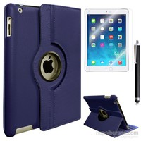 Exclusive Phone Case Exclusive Phone Case iPad Air Kılıf 360 Standlı Lacivert+Film+Kalem
