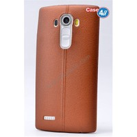 Case 4U Lg G4 Stylus Parlak Desenli Silikon Kılıf Kahverengi