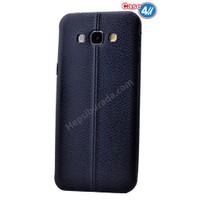 Case 4U Samsung E5 Parlak Desenli Silikon Kılıf Lacivert