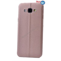 Case 4U Samsung E7 Parlak Desenli Silikon Kılıf Rose Gold