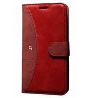 Cep Market Samsung Galaxy J7 Kılıf Standlı Cüzdan - Kırmızı