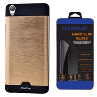 Cepsesuar Sony Xperia Z2 Kılıf Motomo Gold - Cam