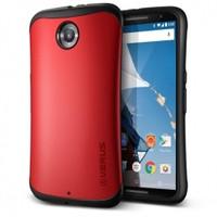Verus Google Nexus 6 Kılıf Thor Hard Drop Kırmızı