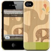 Gelaskins Apple iPhone 4 Hardcase Kılıf Elephant With Calf