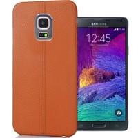 Coverzone Samsung Galaxy Note 4 Kılıf Deri Silikon