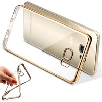 Coverzone Samsung Galaxy J7 Kılıf Silikon Kenarı Renkli Transparan