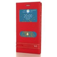 CoverZone Vestel Venüs V3 5040 Kılıf Pencereli Kapaklı