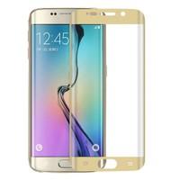 Lopard Samsung Galaxy S7 Edge Gold 3D Kavisli Temperli Ekran Koruyucu