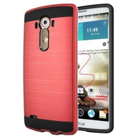Microsonic Lg G3 Kılıf Slim Heavy Duty Kırmızı