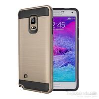 Microsonic Samsung Galaxy Note 4 Kılıf Slim Heavy Duty Gold