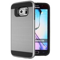 Microsonic Samsung Galaxy S6 Kılıf Slim Heavy Duty Gümüş