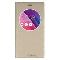 Lopard Asus Zenfone 2 Laser Ze601kl Pencereli Altın/Gold Dolce Kapaklı Deri Akıllı Kılıf
