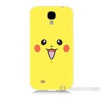 Teknomeg Samsung Galaxy S4 Kapak Kılıf Pokemon Pikachu Baskılı Silikon