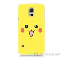 Teknomeg Samsung Galaxy S5 Kapak Kılıf Pokemon Pikachu Baskılı Silikon