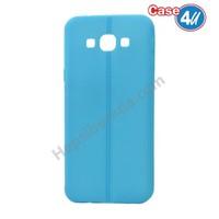 Case 4U Samsung Galaxy On5 Desenli Silikon Kılıf Mavi