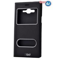 Case 4U Samsung Galaxy On7 Pencereli Kılıf Siyah