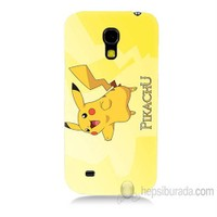 Teknomeg Samsung Galaxy S4 Mini Kapak Kılıf Pokemon Pikachu Baskılı Silikon
