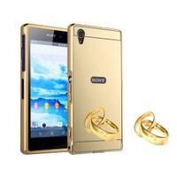 Teleplus Sony Xperia Z4 Aynalı Metal Kapak Kılıf Gold