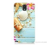 Teknomeg Samsung Galaxy Note 3 Kapak Kılıf Deniz Kabuğu Baskılı Silikon